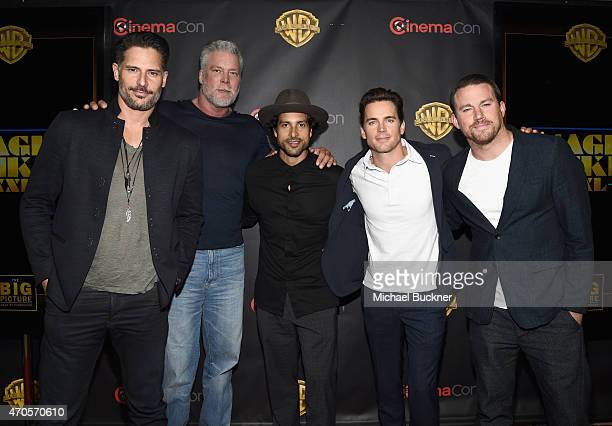 "Actors Joe Manganiello Kevin Nash Adam Rodriguez Matt Bomer and Channing Tatum attend Warner Bros Pictures Invites You to ""The Big Picture"" an..."