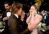 Actors Joe Manganiello William H Macy and Saoirse Ronan in the audience during the 22nd Annual Screen Actors Guild Awards at The Shrine Auditorium on...