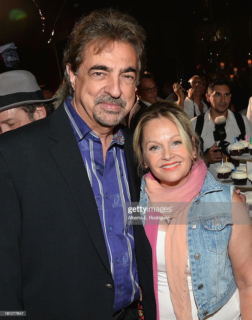 Actors Joe Mantegna and <a gi-track='captionPersonalityLinkClicked' href=/galleries/search?phrase=Charlene+Tilton&family=editorial&specificpeople=216512 ng-click='$event.stopPropagation()'>Charlene Tilton</a> attend The Hollywood Chamber of Commerce & The Hollywood Sign Trust's 90th Celebration of the Hollywood Sign at Drai's Hollywood on September 19, 2013 in Hollywood, California.