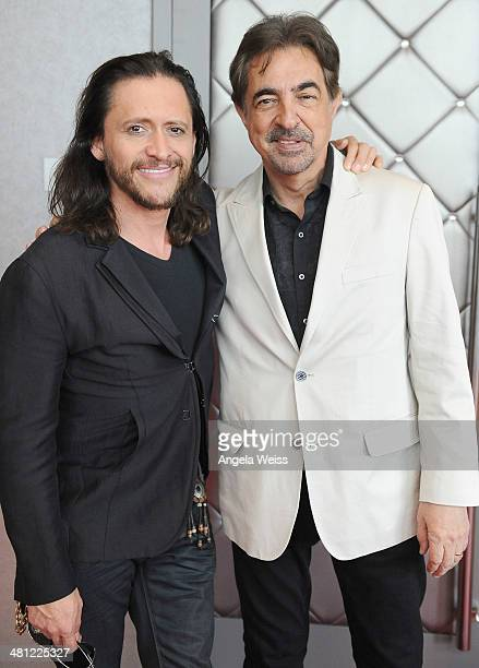 Actors Joe Mantegna and Clifton Collins Jr attend the Hollywood Chamber of Commerce's 93rd annual Installation Awards Luncheon at W Hollywood Hotel...