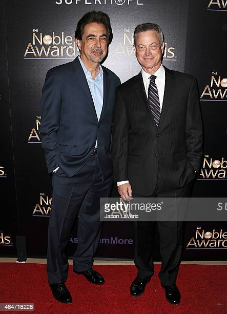 Actors Joe Mantegna and Gary Sinise attend the 3rd annual Noble Awards at The Beverly Hilton Hotel on February 27 2015 in Beverly Hills California