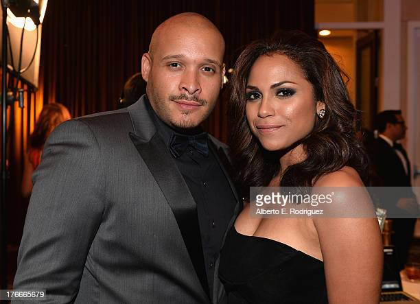 Actors Joe Minoso and Monica Raymund attend the 28th Annual Imagen Awards at The Beverly Hilton Hotel on August 16 2013 in Beverly Hills California