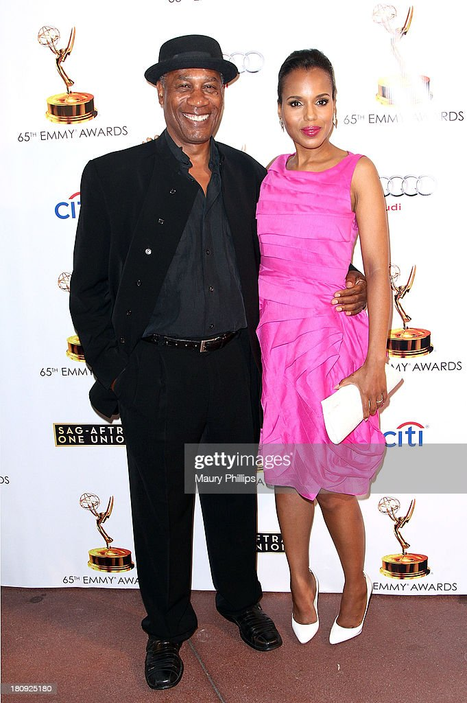 Actors <a gi-track='captionPersonalityLinkClicked' href=/galleries/search?phrase=Joe+Morton&family=editorial&specificpeople=243160 ng-click='$event.stopPropagation()'>Joe Morton</a> and <a gi-track='captionPersonalityLinkClicked' href=/galleries/search?phrase=Kerry+Washington&family=editorial&specificpeople=201534 ng-click='$event.stopPropagation()'>Kerry Washington</a> arrive at Dynamic & Diverse - A 65th Emmy Awards Nominee celebration at Academy of Television Arts & Sciences on September 17, 2013 in North Hollywood, California.
