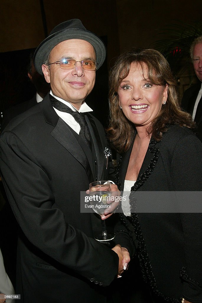 Actors Joe Pantoliano and Dawn Wells attend the cocktail party for the 'CBS at 75' television gala at the Hammerstein Ballroom November 2, 2003 in New York City.