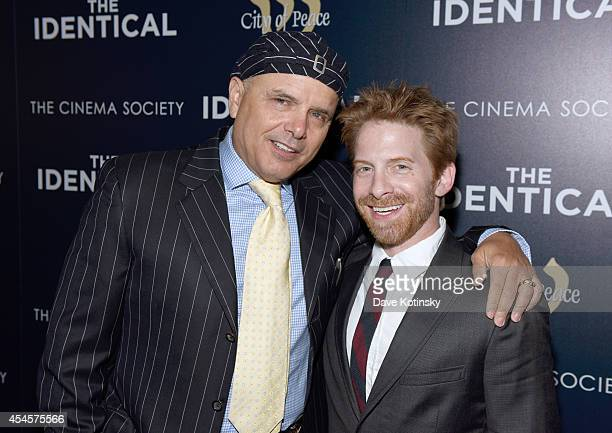 Actors Joe Pantoliano and Seth Green attend City Of Peace Films With The Cinema Society Host The World Premiere Of 'The Identical' at SVA Theater on...