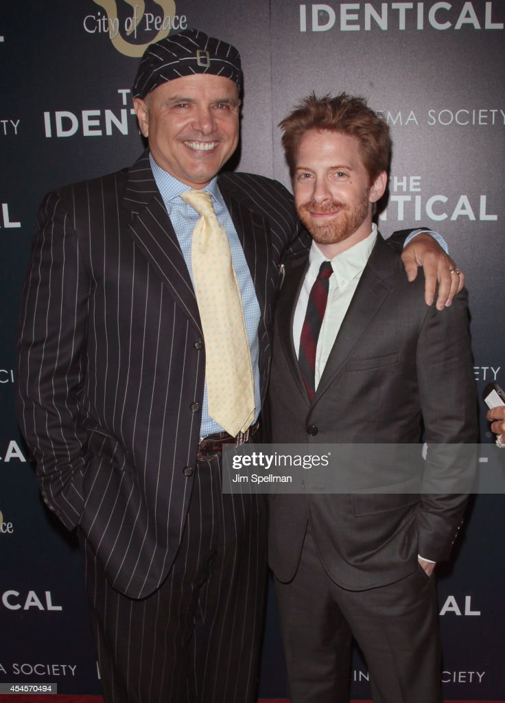 Actors Joe Pantoliano and Seth Green attend the City Of Peace Films With The Cinema Society Premiere Of 'The Identical' at SVA Theater on September 3...