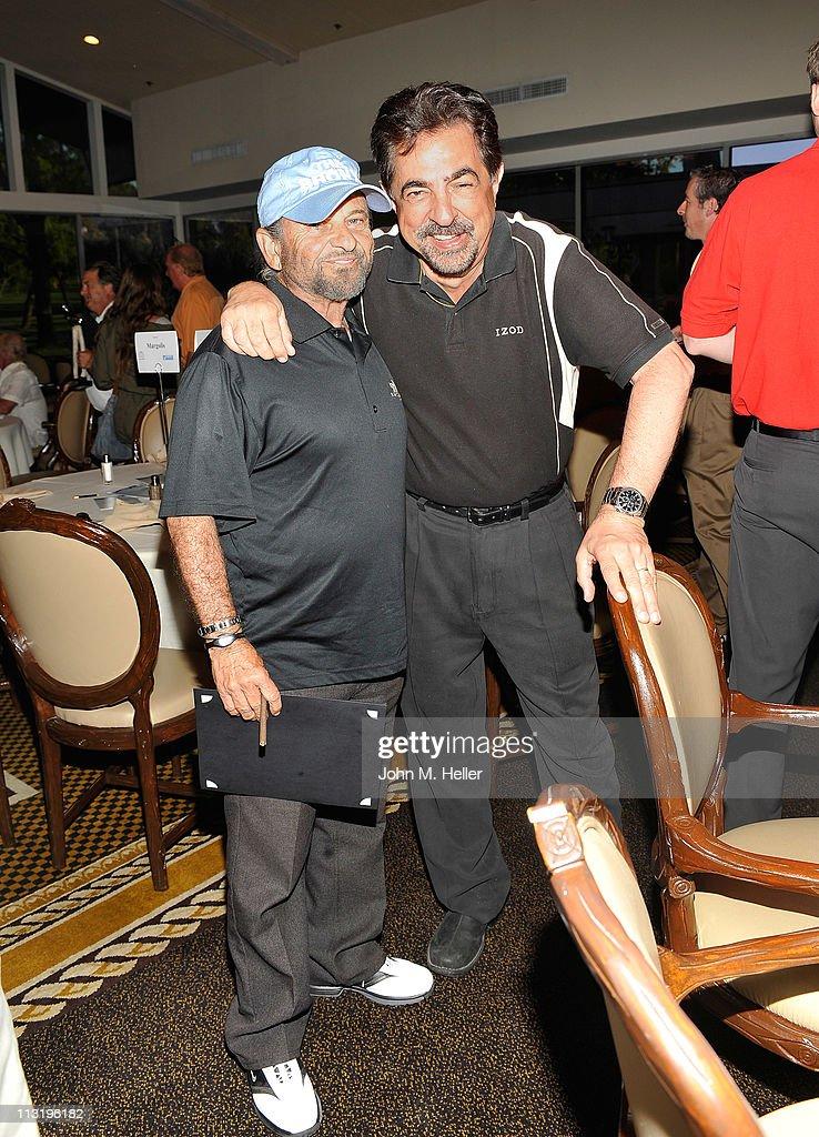 Actors Joe Pesci and Joe Mantegna attend actor James Caan's Golf Tournament at El Caballero Country Club on April 25, 2011 in Tarzana, California.
