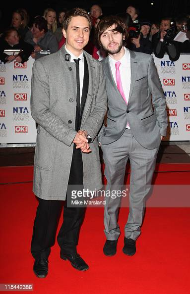 Actors Joe Thomas and James Buckley attend the 15th National Television Awards held at the O2 Arena on January 20 2010 in London England
