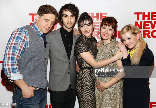 Actors Joe Tippett Alex Wolff and Isabelle Fuhrman writer and director Erica Schmidt and actress Abigail Breslin attend 'All The Fine Boys' Opening...