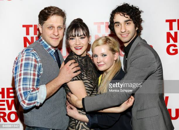 Actors Joe Tippett Isabelle Fuhrman Abigail Breslin and Alex Wolff attend 'All The Fine Boys' Opening Night on March 1 2017 in New York City