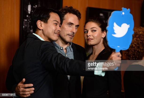 Actors Joel De La Fuente Rufus Sewell and Alexa Davalos arrive at the Emmy FYC Screening of the Amazon Original Series 'The Man In The High Castle'...