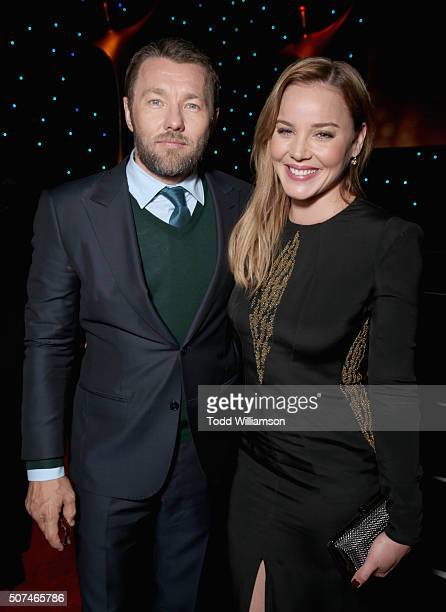 Actors Joel Edgerton and Abbie Cornish attend the 5th AACTA International Awards at Avalon Hollywood on January 29 2016 in Los Angeles United States