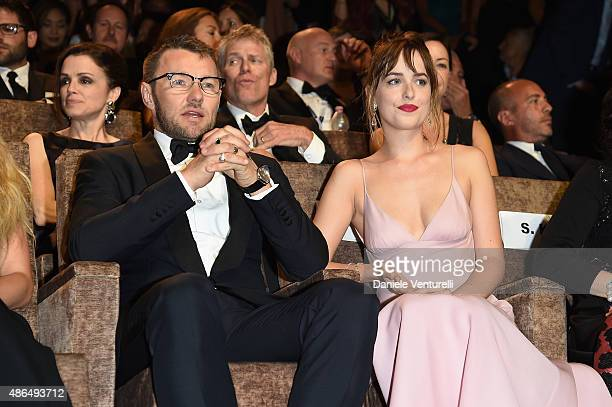 Actors Joel Edgerton and Dakota Johnson attend a premiere for 'Black Mass' during the 72nd Venice Film Festival at on September 4 2015 in Venice Italy