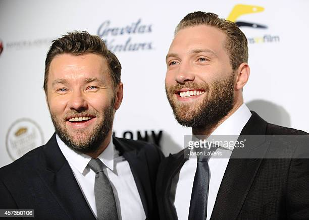 Actors Joel Edgerton and Jai Courtney attend the premiere of 'Felony' at Harmony Gold Theatre on October 16 2014 in Los Angeles California