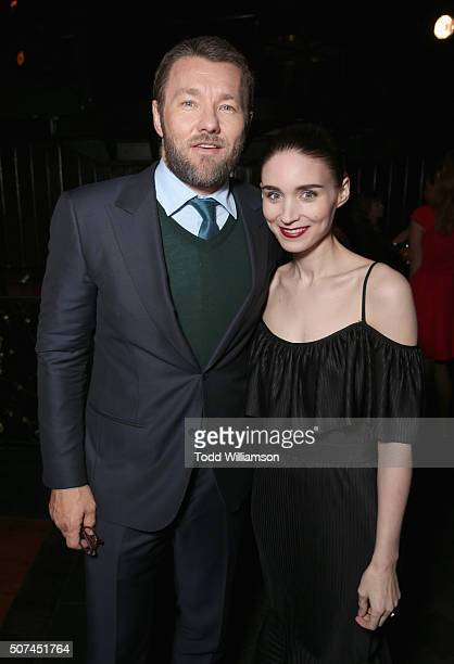 Actors Joel Edgerton and Rooney Mara attend the 5th AACTA International Awards at Avalon Hollywood on January 29 2016 in Los Angeles United States