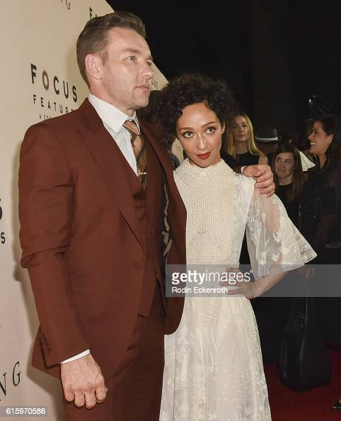 Actors Joel Edgerton and Ruth Negga at the Los Angeles Premiere of Focus Features' LOVING at Samuel Goldwyn Theater on October 20 2016 in Beverly...