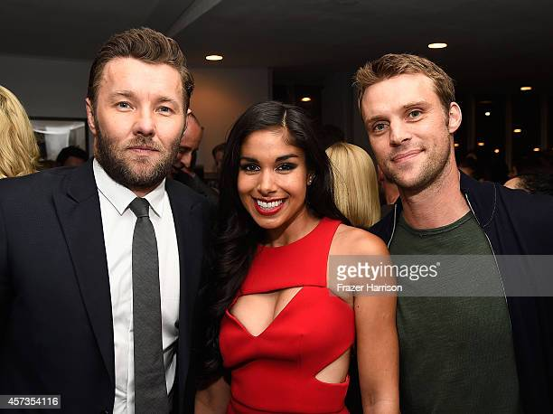 Actors joel Edgerton Sarah Roberts and Jesse Spencer attend Australian in Film presents the Premiere Of 'Felony' after party at Harmony Gold Theatre...