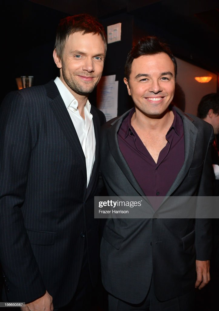 Actors Joel McHale and Seth MacFarlane attends Variety's 3rd annual Power of Comedy event presented by Bing benefiting the Noreen Fraser Foundation held at Avalon on November 17, 2012 in Hollywood, California.
