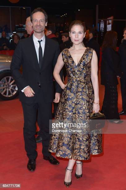 Actors Joerg Hartmann and Nora von Waldstaetten attend the 'Wild Mouse' premiere during the 67th Berlinale International Film Festival Berlin at...