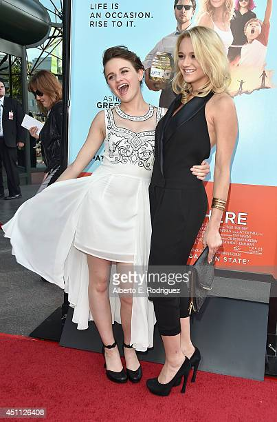 Actors Joey King and Hunter King attend the premiere of Focus Features' 'Wish I Was Here' at DGA Theater on June 23 2014 in Los Angeles California