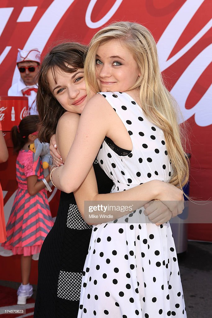 Actors Joey King and Sierra McCormick attends Variety's Power of Youth presented by Hasbro Inc and generationOn at Universal Studios Backlot on July...
