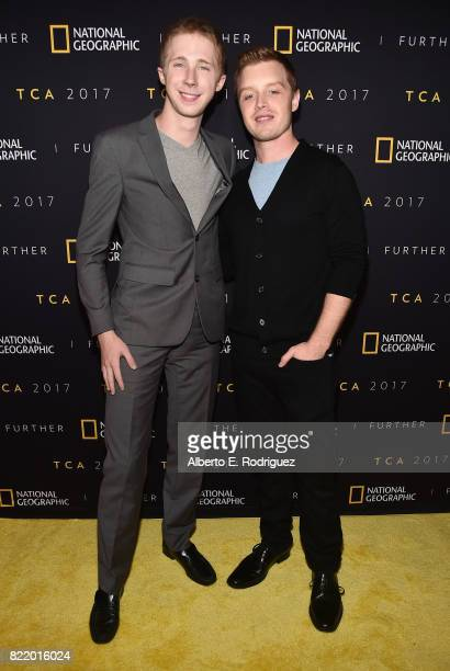 Actors Joey Luthman and Noel Fisher attend the 2017 Summer TCA Tour National Geographic Party at The Waldorf Astoria Beverly Hills on July 24 2017 in...