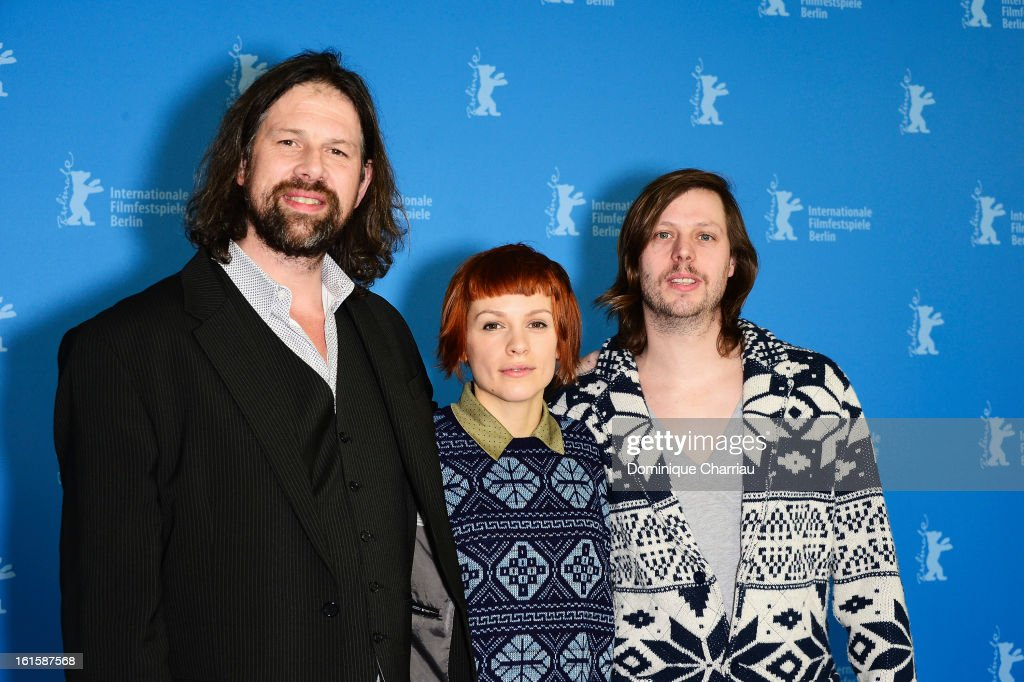 Actors Johan Heldenbergh, Veerle Baetens and director Felix Van Groeningen attend 'The Broken Circle Breakdown' Photocall during the 63rd Berlinale International Film Festival at the Grand Hyatt Hotel on February 12, 2013 in Berlin, Germany.