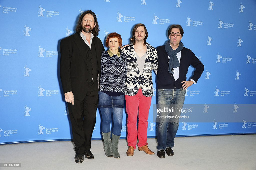 Actors Johan Heldenbergh, Veerle Baetens, director Felix Van Groeningen and producer Dirk Impens attend 'The Broken Circle Breakdown' Photocall during the 63rd Berlinale International Film Festival at the Grand Hyatt Hotel on February 12, 2013 in Berlin, Germany.