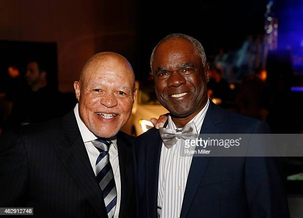 Actors John Beasley and Glynn Turman pose during the 46th Annual NAACP Image Awards Postshow Gala Celebration Sponsored By Hyundai held at the...