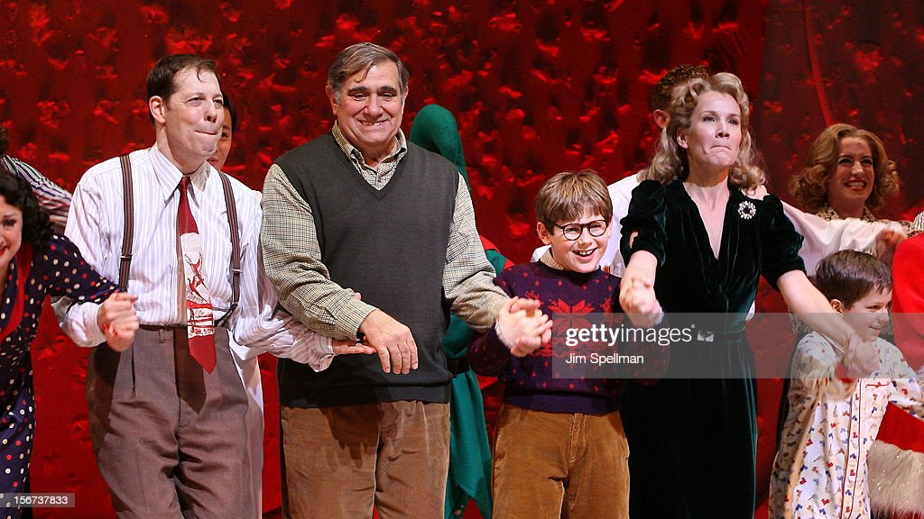 Actors John Bolton, Dan Lauria, Johnny Rabe and Erin Dilly attend the 'A Christmas Story: The Musical' Broadway Opening Night at Lunt-Fontanne Theatre on November 19, 2012 in New York City.