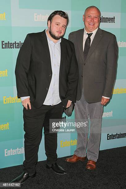 Actors John Bradley and Conleth Hill arrive at the Entertainment Weekly celebration at Float at Hard Rock Hotel San Diego on July 11 2015 in San...