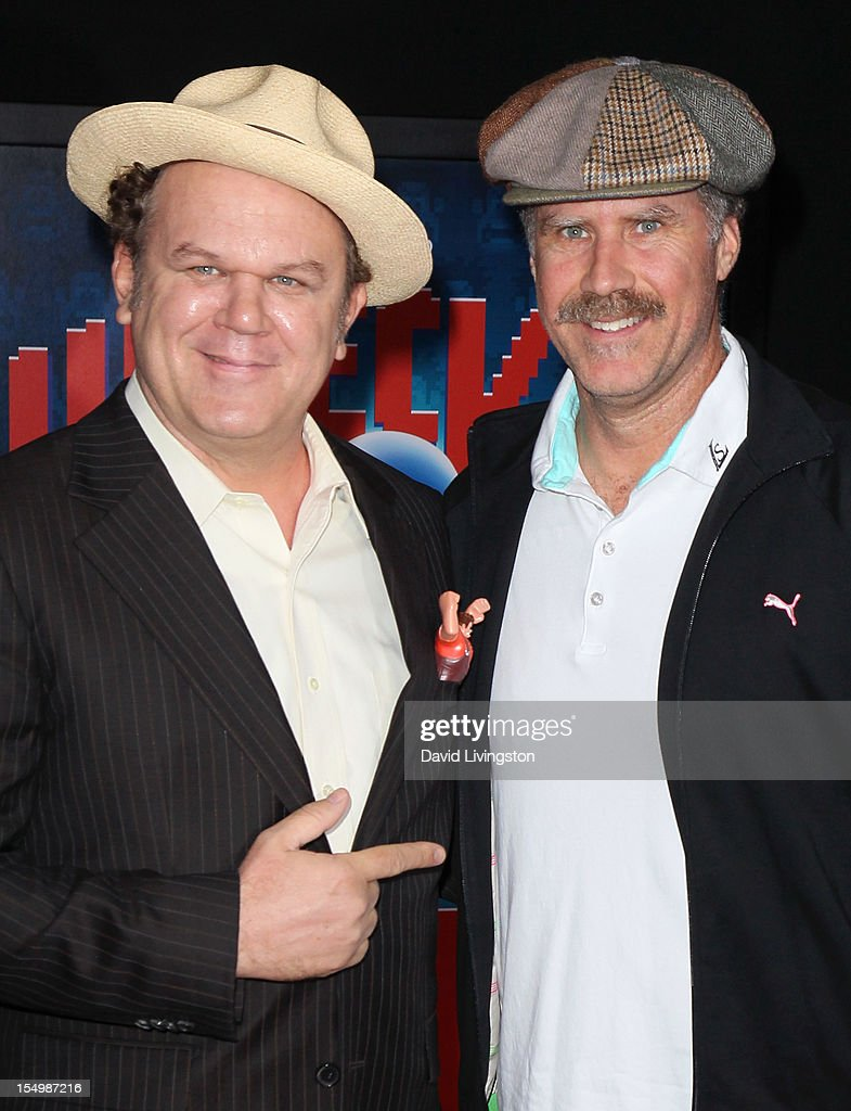 Actors <a gi-track='captionPersonalityLinkClicked' href=/galleries/search?phrase=John+C.+Reilly&family=editorial&specificpeople=210786 ng-click='$event.stopPropagation()'>John C. Reilly</a> (L) and <a gi-track='captionPersonalityLinkClicked' href=/galleries/search?phrase=Will+Ferrell&family=editorial&specificpeople=171995 ng-click='$event.stopPropagation()'>Will Ferrell</a> attend the premiere of Walt Disney Animation Studios' 'Wreck-It Ralph' at the El Capitan Theatre on October 29, 2012 in Hollywood, California.