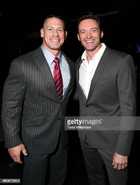 Actors John Cena and Hugh Jackman at CinemaCon 2017 20th Century Fox Invites You to a Special Presentation Highlighting Its Future Release Schedule...