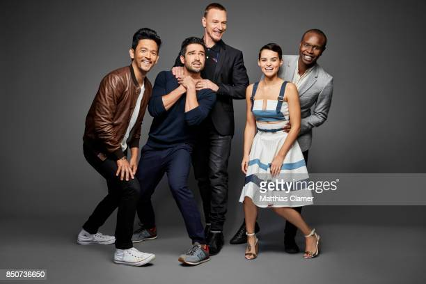 Actors John Cho Alfonso Herrera Ben Daniels Brianna Hildebrand and Kurt Egyiawan from The Exorcist are photographed for Entertainment Weekly Magazine...