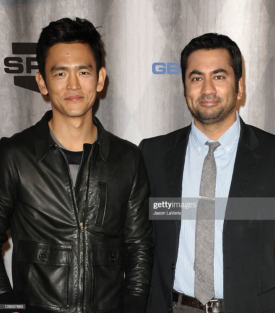 Actors John Cho and Kal Penn attend Spike TV's 2011 Scream Awards at Gibson Amphitheatre on October 15, 2011 in Universal City, California.