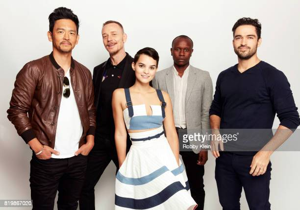 Actors John Cho Ben Daniels Brianna Hildebrand Kurt Egyiawan and Alfonso Herrera from FOX's 'The Exorcist' pose for a portrait during ComicCon 2017...