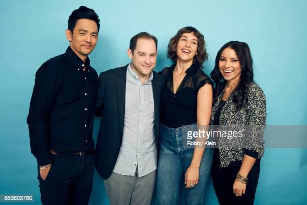Actors John Cho Lola Kirke Jessica Parker Kennedy and director Aaron Katz of 'Gemini' pose for a portrait at The Wrap and Getty Images SxSW Portrait...