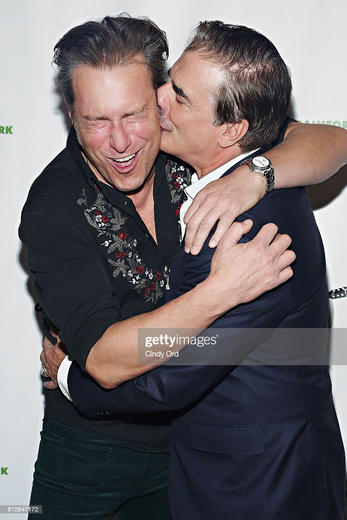 Actors John Corbett and Chris Noth attend 2016 Eco Rock - A benefit for The Rainforest Action Network at The Cutting Room on February 26, 2016 in New York City.