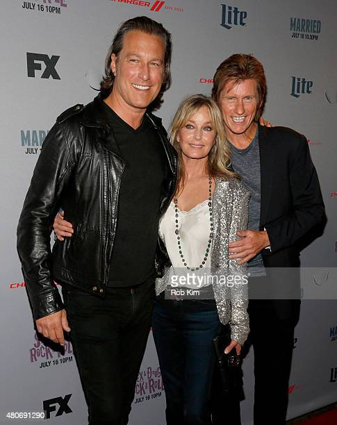Actors John Corbett Bo Derek and Denis Leary attend the New York Series Premiere of 'SexDrugsRockRoll' at the SVA Theater on July 14 2015 in New York...