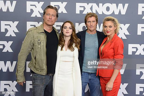 Actors John Corbett Elizabeth Gillies Denis Leary and Elaine Hendrix attend the FX Networks TCA 2016 Summer Press Tour on August 9 2016 in Beverly...