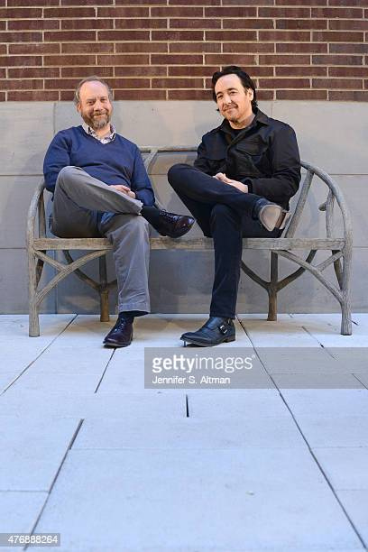 Actors John Cusack and Paul Giamatti are photographed for Los Angeles Times on April 13 2015 in New York City