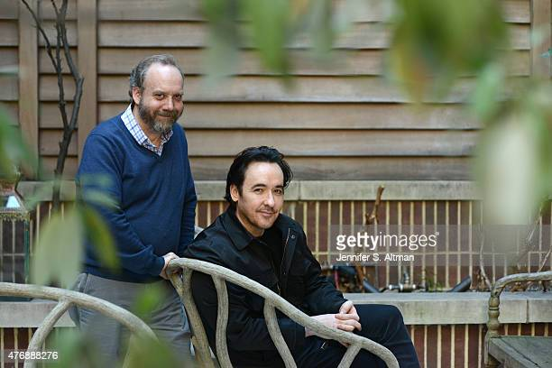 Actors John Cusack and Paul Giamatti are photographed for Los Angeles Times on April 13 2015 in New York City PUBLISHED IMAGE