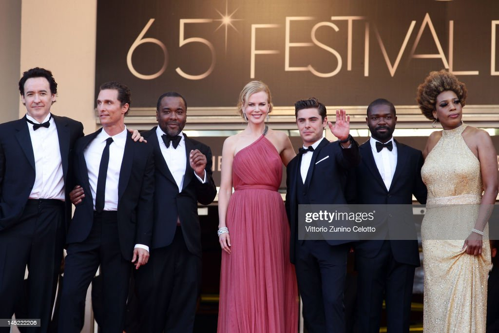 Actors John Cusack, Matthew McConaughey, director Lee Daniels, Nicole Kidman, Zac Efron David Oyelowo and Macy Gray attend the 'The Paperboy' premiere during the 65th Annual Cannes Film Festival at Palais des Festivals on May 24, 2012 in Cannes, France.