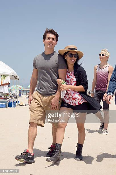 Actors John DeLuca Chrissie Fit and Ross Lynch star of Disney's 'Teen Beach Movie' joins Heal The Bay for beach clean up on June 15 2013 in Venice...