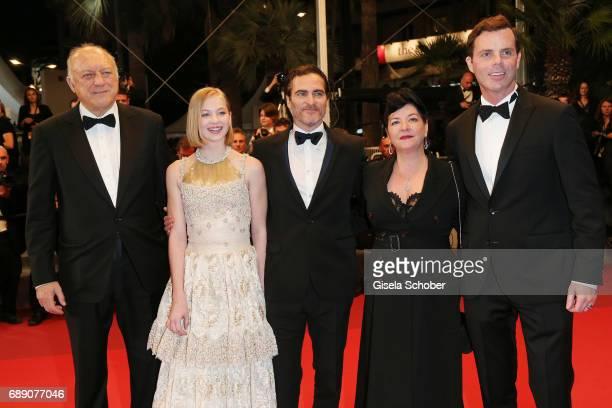 Actors John Doman Ekaterina Samsonov Joaquin Phoenix Director Lynne Ramsay and Alessandro Nivola attend the 'You Were Never Really Here' screening...