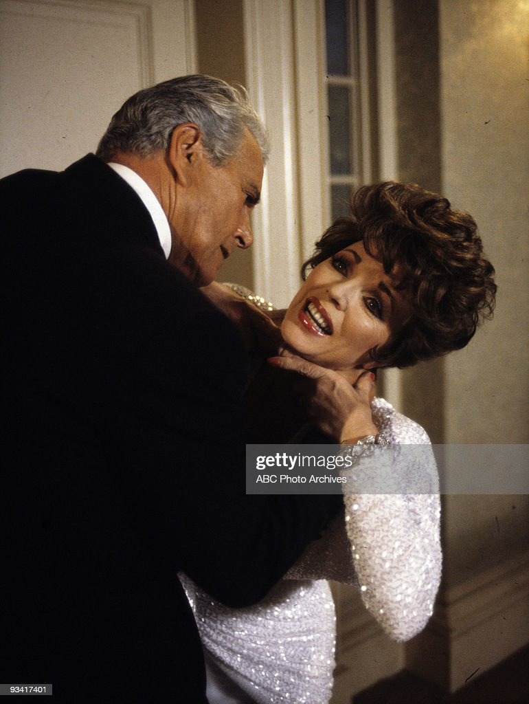 DYNASTY - 'The Choice (a.k.a) The Vendetta' - Season - 5/21/86, A raging Blake (John Forsythe) choked Alexis (Joan Collins) after she tampered with his finances.,