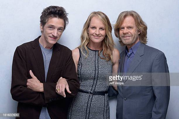 Actors John Hawkes Helen Hunt and William H Macy of 'The Sessions' pose at the Guess Portrait Studio during 2012 Toronto International Film Festival...