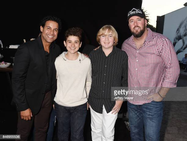 Actors John Huertas Jax Malcolm Connor Dean and Chris Sullivan attend launch party for UMe's 'This Is Us ' at Clutch on September 13 2017 in Venice...