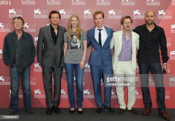 Actors John Hurt Colin Firth Svetlana Khodchenkova Benedict Cumberbatch Gary Oldman filmmaker  Tomas Alfredson and actor Mark Strong attend the...