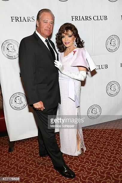 Actors John James and Dame Joan Collins DBE attend the Friars Club Salute To Joan Collins at The Friars Club on May 4 2015 in New York City